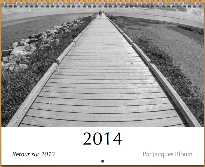 couverture calendrier 2014 N&B